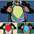 Superhero Under Cover - Stockvectorbeeld
