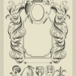 Heraldic elements. - Stockvectorbeeld