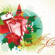 Stock Vector: Vector Chrismas background.