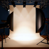 A photo studio background template. — Stock Photo