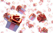 Flying gifts. — Stock Photo
