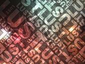 Lust typographic texture — Stock Photo