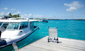 Maldivian speedboats — Stock Photo