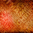 Stock Photo: Red christmas typographic texture