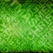 Stock Photo: Green christmas typographic texture