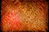 Red christmas typographic texture — Stock Photo