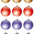 Stock Vector: Christmas balls kit