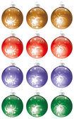 Christmas balls kit — Stock Vector