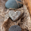 Stone heart - Stock Photo