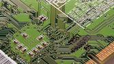 Computer circuit board — Stockfoto