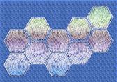 абстрактный фон в гексагональной — Стоковое фото