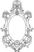 El marco con pergaminos y elementos florales — Vector de stock