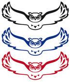 Logo owl — Stock Vector