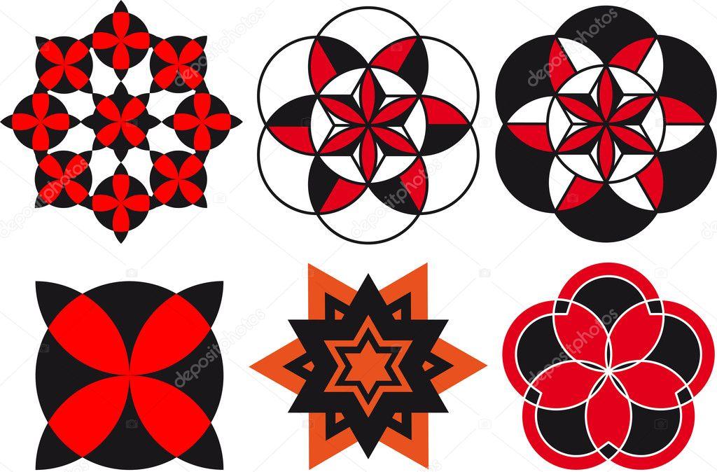 Узор из кругов и треугольников 1 класс