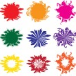Stock Vector: Blots color
