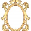 Gold frame — Stock Vector