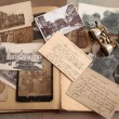 Old photos,postcards and corresponence. — Stock Photo
