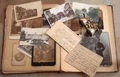 Old photos,postcards and corresponence. — Stock Photo