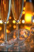 Champagne in glasses. — Stock Photo