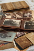 Old photos and albums — Stock Photo