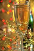 Closeup of champagne and glasses. — Stock Photo