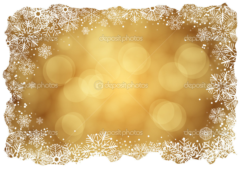 Christmas background with frame of snowflakes — Stock Vector #6846572