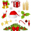 Stock Vector: Christmas set