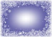 Rám sněhových vloček — Stock vektor