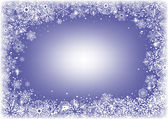 Marco de copos de nieve — Vector de stock