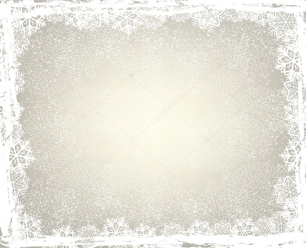 Winter background with snowflake frame — Grafika wektorowa #7205238