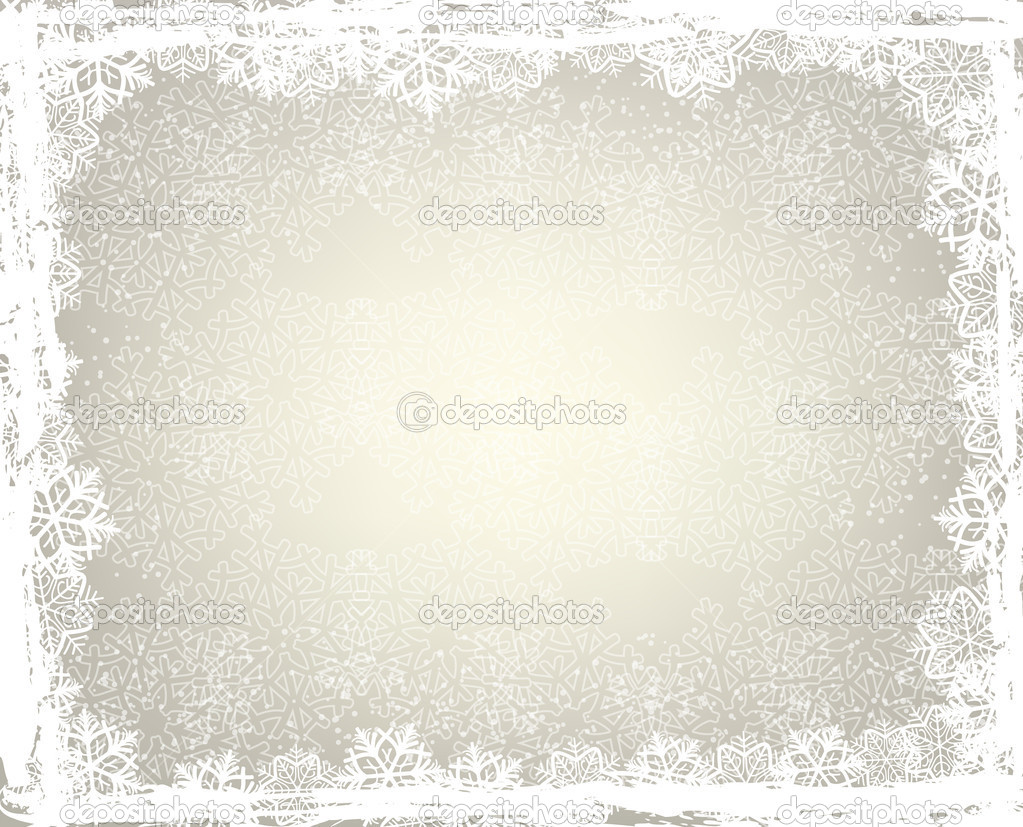 Winter background with snowflake frame   #7205238