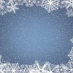 Рамка снежинка — Cтоковый вектор