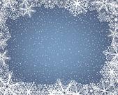 Kar tanesi çerçeve — Stok Vektör