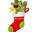 Christmas sock — Image vectorielle