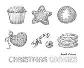 Christmas cookies — Vector de stock