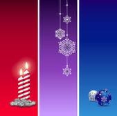 3 Christmas baners — Stock Vector