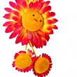 Stock Photo: Isolated toy of smiling sunflower