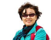 Closeup portrait einer hochrangigen asiatischen dame — Stockfoto