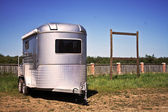 Trailer in the sunny day — Stock Photo
