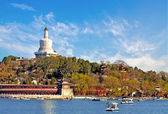 White pagoda of Beijing park China — Stock Photo