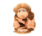 Photo of a lovely monkey toy for children — Stock Photo