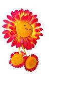 孤立的玩具微笑的向日葵 — 图库照片