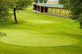 Decent view on european golf park — Stock Photo