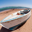Old boat on the beach — Stock Photo
