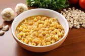 Pasta with chickpeas — Stock Photo