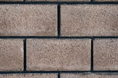 Wall plastered like a brick — Stock Photo