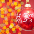 Christmas ball against light — Stock Photo #7411404