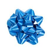 蓝色包装礼品蝴蝶结 — 图库照片