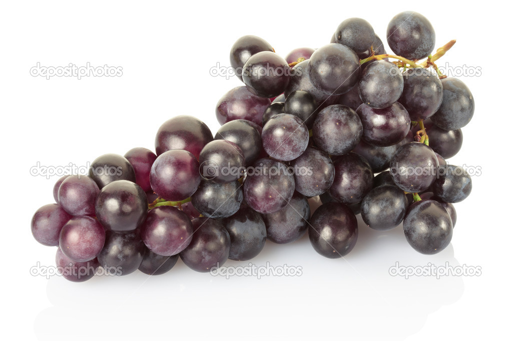 Red grape fruit isolated on white, clipping path included — Stock Photo #6838134