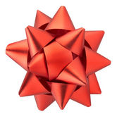 Red gift bow isolated — Stock Photo